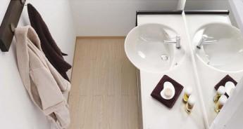 限られたスペースでもゆとりの空間を生む、洗面化粧台 アフェットc