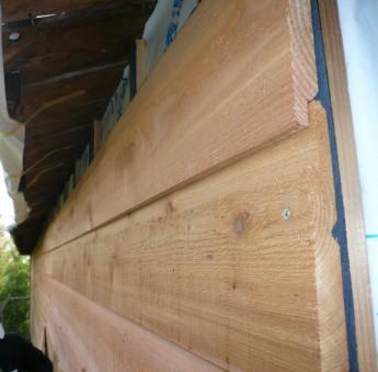 木製サイディングのベベルサイディング(ウエスタンレッドシダー)
