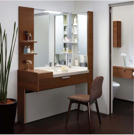 ミズリア 洗面化粧台 上質空間を演出 シックでおしゃれな洗面台