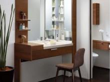 お掃除のしやすさにも配慮された洗面化粧台