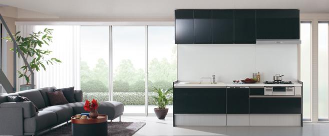 Bb システムキッチン 人造大理石 シンプルで軽やか 色柄豊富