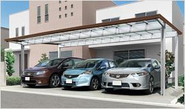 アーキデュオ プレミアム 3台駐車可能 フラットなデザインでモダン住宅にマッチ