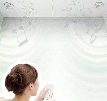 浴室で音楽が聴けるサウンドシャワー 標準装備